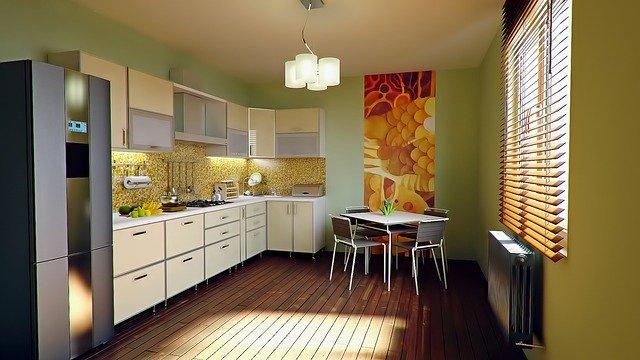 Kuchyň, židle, stůl
